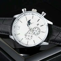Wholesale Nice Tables - 2018 New Fashion mens watch black leather Retail watches High-grade Male brand Wristwatches top designer watch Moon daydate Swiss Nice table