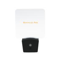 gece ışık plakası açtı toptan satış-Mini RGB LED Optik Gece Lambası Dahili Işık Sensörü ABD Duvar Plug7 RGB Işıkları Boş Akrilik Plaka Toptan CE RohS UL Sertifikası