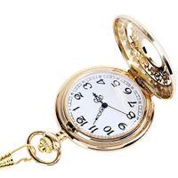 ingrosso catene di oro bianco spesse-L'ultimo orologio da taschino a fiore denso con intaglio a catena spesso molto popolare è un orologio da taschino in oro con quadrante bianco