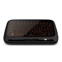 juegos virtuales al por mayor-H18 + Mini teclado virtual inalámbrico Mouse retroiluminado Air 2.4GHz Pantalla completa QWERTY Gaming Keyboard Touchpad con luz de fondo 20pcs