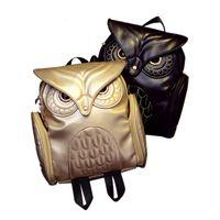 sacos de escola frescos da forma venda por atacado-New Fashion Women Backpack mais novo Stylish Cool Black PU couro Mochila Feminino 2017 Hot Sale escolares mulheres bolsa de ombro sacos
