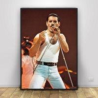 Wholesale abstract silk art resale online - Freddie Mercury Art Silk Poster Home Decor x18 x36inch