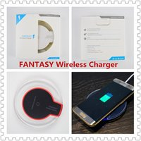 Wholesale qi wireless charger pad black - Wireless Charger Portable Mobile Phone Charger Fast Charging Round Pad Illuminate Qi Wireless Charger for Iphone X  8  Samsung Black White