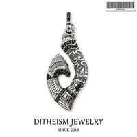 Wholesale maori pendants - Hook Maori Pendants, 2018 New Fashion Jewelry 925 Sterling Sier Blackened Ethnic Gift For Women Men Boy Girls Fit Necklace