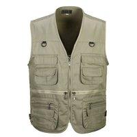 Wholesale new tactical vest online - PLUS SIZE XXL XXXL tactical Vest Men New Arrival Multi pockets Photography Cameraman Vest