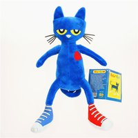 Wholesale merry christmas baby - Plush Pete The Cat Doll Baby Preschool Education Dolls Toys Children Stuffed Cartoon Cats Classic Blue Merry Makers 15zk WW