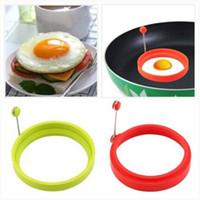 машина для производства яиц бесплатная доставка оптовых-Свободная перевозка груза 2020 силиконовое кольцо Омлет яичницы Shaper яйца Форма для приготовления завтрака