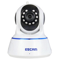 Wholesale security camera for android for sale - ESCAM QF002 IP Camera WIFI P P2P Night Vision Support Android IOS for Home Company security