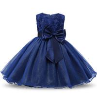 vestidos de princesa para juniores venda por atacado-Vestido da menina de flor Para O Concurso De Casamento Formal Crianças Comunhão Traje Para A Menina Pequena Princesa Júnior Da Menina Da Criança Da Dama De Honra