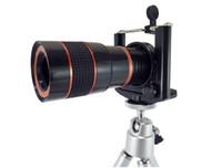 lente de zoom para celular venda por atacado-8x18 universal mini optical mobile phone zoom telescópio lente da câmera adaptador de montagem celular clipe titular e tripé monocular