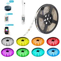 Wholesale work light kit - LED Strip Lights Alexa Compatible Full Kit 5M 16.4ft RGB Wifi Smart Phone Wireless Control 12V 5050 Dimmable Work with Android, IOS
