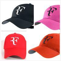 ingrosso gorras pianas hip hop-cappello da tennis Roger Federer RF nuovissimo cappello da tennis per il tempo libero gorras planas uomo e donna 9 colori fashion design famoso hip hop snapback caps