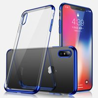 Wholesale pro iphone case - Luxury 3 in 1 Soft TPU Clear Plating Case For iPhone X 9 8 7 6 6S Samsung S6 S7 Edge S8 S9 Plus Note Note9 A6 A8 J2 Pro J4 J6 2018 J5 Prime