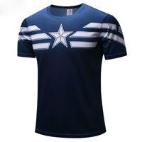 Wholesale superman batman t shirt - 2018 t-shirt Superman Batman spider man captain America  Hulk Iron Man   t shirt men fitness shirts men t shirts