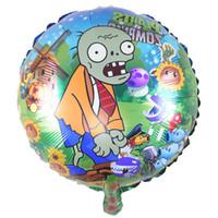 ingrosso piante di alluminio-Palloncino a forma di pallone a forma di pallone da 18 pollici VS Palloncino zombi Palloncino a foglio di alluminio per feste Forniture per bambini Regali Ballons