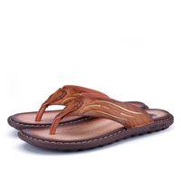 Wholesale comfort flip flops - Summer sandals flip-flops Men Shoes Summer Fashion Beach Flip Flops Comfort Sandals 2 colors Size 38-44 JX-7602