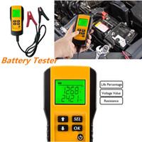 battery load toptan satış-Dijital 12 V Araç Akü Test Cihazı Otomotiv Pil Yükü Test Cihazı Ve Analizörü