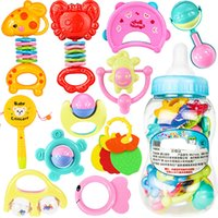Wholesale Giant Plastic Bottles - 22Pcs  Set Kids Colorful Hand Shake Bell Ring Rattles Teether Infant Teething Funny Games Toys Gift Set Giant Baby Bottle 3 Specifications