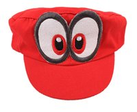 Wholesale free character games - Game Super Mario Odyssey Hat Adult Kids Anime Cosplay Cap Handmade Cotton Adjustable