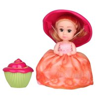 Wholesale Cakes Cupcakes - Cupcake Scented Princess Doll Reversible Cake Transform to Mini Princess Doll Barbie 6 Roles with 6 Flavors Magic Toys for Girls