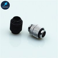 cool blocks 2018 - 1 piece Brass chrome plated G1 4 rotatable double Quick Twist Water Cooling Fitting Connector For water tank water block PC