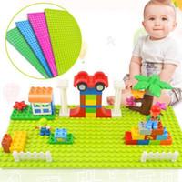 plastik eğitici oyuncakları bloke eder toptan satış-Yeni Sürüm Küçük Bloklar Yapı DIY Baseplate 16 * 32 Dots Taban plaka Oyuncaklar Çocuk Eğitim Plastik ABS Oyuncak Ev Dekor GGA256 220 adet