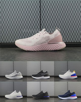 Wholesale grey knit - Women Running Shoes Epic React Fly Knit Trainers Mens Sports Fashion Racing Runner Men Women Personality Trainer Comfort Basketball Shoes