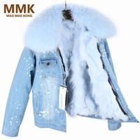 ingrosso nuovo cappotto di pelliccia-Il nuovo cappotto di Parka invernale donne con scollo pelliccia di procione reale pelliccia che allinea il rivestimento superiore