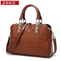 Wholesale ladies office bag resale online - JOOZ New Alligator pattern women bag for big Shell Leather Bags High Quality office lady bag Emboss Women messenger bags D18102303