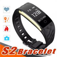 montre bracelet tw64 smart achat en gros de-2018 Fréquence cardiaque dynamique S2 suivi de la forme par Smartband compteur de pas Compteur intelligent Bracelet de vibration pour bracelet iOS pour ID107 fitbit tw64
