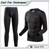 Wholesale Thermo Underwear Set - New High Quality Brand Thermal Underwear Set Men Winter Thermo Sleepwear Soft Comfortable Stretch Warm Long Johns