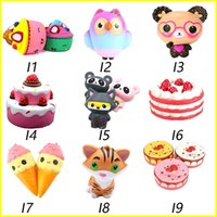 Wholesale mermaid kids - Squishy Toys squishies Rabbit tiger owl panda pineapple bear cake mermaid Slow Rising Squeeze Cute Cell Phone Strap gift for kid to