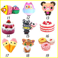Wholesale cell phones for kids - Squishy Toys squishies Rabbit tiger owl panda pineapple bear cake mermaid Slow Rising Squeeze Cute Cell Phone Strap gift for kid to