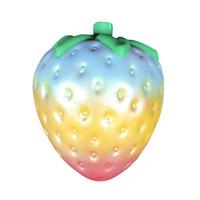 yeni gökkuşağı gül toptan satış-Yeni Kawaii Gökkuşağı Çilek Squishy Yavaş Yükselen 10 CM Jumbo Sevimli Kokulu Renkli Ekmek Kek Çocuk Eğlenceli Oyuncak Telefonu Sapanlar