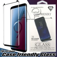 Wholesale 3d tempered glass for sale - Case Friendly D Curved Tempered Glass For Samsung Galaxy S10 S9 Note S8 Plus note8 Screen Protector Film With Retail Package