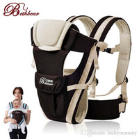 Wholesale Kangaroo Sling - Beth Bear 0-30 Months Breathable Front Facing Baby Carrier 4 in 1 Infant Comfortable Sling Backpack Pouch Wrap Baby Kangaroo New NB