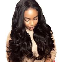 frange de perruque moyenne et noire achat en gros de-Perruques pour femmes noires en dentelle de cheveux humains Medium large Rouleau long ondulé avec des cheveux en fibres chimiques Curly Hair perruques
