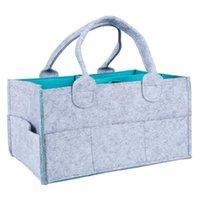 torba bölmeleri toptan satış-ABWE En İyi Satış Bebek Bezi Caddy Organizatör, Taşınabilir Bezi Caddy Kreş Saklama Kutusu, Bebek Mendil Çantası, Değiştirilebilir Bölmeler çantası