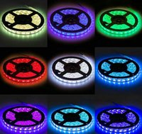 Wholesale Holiday Change - M Waterproof Flexible Color Changing RGB SMD 5050 600leds LED Strip Light Kit with 44 Keys IR Remote Controller and 12V 5A Power Supply