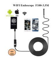 mini cámara de video serpiente al por mayor-8mm Lente Wifi Endoscopio 3.5M Mini Cámara Serpiente Inspección Cámara para IPhone IOS Android Teléfono inalámbrico Boroscopio Video Endoscopio