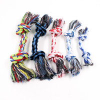 Wholesale drop shipping for toys online - New Arrival Pet Dog Toys Dual Cotton Rope Dog Cat Bite Toy For Small Medium Large Pets Material Drop Shipping Random