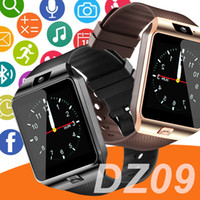 Wholesale phone spanish resale online - DZ09 smartwatch android GT08 U8 A1 samsung smart watchs SIM Intelligent mobile phone watch can record the sleep state Smart watch