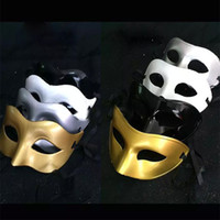 gladyatörler maskeleri toptan satış-Lüks Maske Erkek Venedik Parti Masquerade Maske Roma Gladyatör Cadılar Bayramı Maskeleri Mardi Gras Yarım Yüz Maskesi Opsiyonel Çok renkli HH7-136