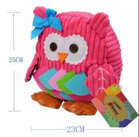 Wholesale fabric baby books - 2016 25cm Children SOZZY School Bags Lovely Cartoon Animals Backpacks Baby Plush Shoulder Bag Schoolbag Toddler Snacks Book Bags Kids Gift