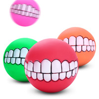 Wholesale multi pet toys online - Environmental Friendly Creative Teething Toy Multi Color Dogs Cats Pvc cm Teethers Toys Creative Sounding Pet Tooth Ball rc Z