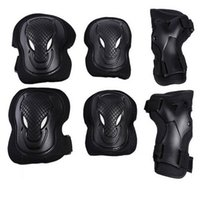 Wholesale knee pads roller skating for sale - Group buy Athletic Outdoor Sports Wolf Face Hand Guard Elbow Knee Pads Maximal Exercise Roller Skating Skate Bicycle Protect Safety py bb
