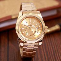pulseira relógio militar venda por atacado-40mm militar assista relogio masculino mens relógios luxo dress designer de moda calendário de discagem preta pulseira de ouro dobrável fecho mestre masculino