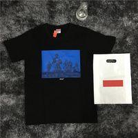 moda rahat erkek s tişört toptan satış-17SS S Moda UNDERCOVER YEDI SAMURAI TEE Işbirliği kutusu logosu Kaykay T-shirt Erkek Kadın Pamuk Rahat TShirt HFLSTX032