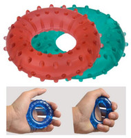 Wholesale Wheel Exercises - Resistance Gripping Ring Trainer Grip Forearm Strength Exercise Body Building hand expander training Outdoor Fitness Equipment