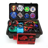 Wholesale beyblade metal masters toys online - 14PCS Toupie Beyblade Burst Set Masters Launcher Spinning Top Beyblades Metal Fusion Beyblade Toys for Boy Children Bayblade gifts